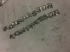 "Mercedes-Benz ""Kompressor"" Rear Trunk Nameplate Individual Letter Emblem"