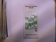 usa etats unis ancienne carte routiere eastern states AAA road map 1981