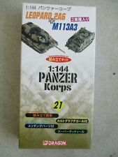 PANZER KORPS 1:144 MODEL KIT NUMBER 21 BY DRAGON IN BOX 2004 LEOPARD 2A6 M113A3