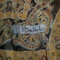Vintage Renato Balestra~Italian Designer~Gold N Black Paisley Leaf Scarf