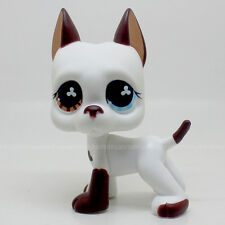 LPS #577 Littlest Pet Shop Great Dane DOG Blue Eye / Brown Rare Toy