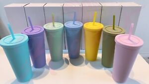 22 oz Pastel Matte Tumbler with Straw | Blank Tumblers in Bulk | Fast Ship USA