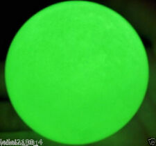 100MM+SAND Glow White Jade Stone Glow green In The Dark Stone Ball Healing!