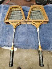 Vin. Sportcraft Perfect balance ash frame professional badminton racket set.