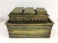Antique Vintage Bronze Brass Betel Nut Box 1800's 5 Piece Set