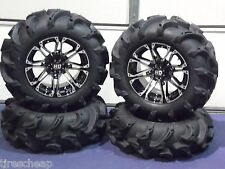 "27"" POLARIS XP850 MEGA MAYHEM 1.5"" LUG ATV TIRE & 14"" ATV WHEEL KIT SS3"