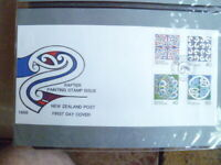 1988 NEW ZEALAND  RAFTER PAINTING  FIRST DAY  COVER SET OF 4 STAMPS