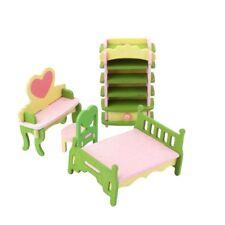 Puppenhaus Zubehör Möbel Miniaturen Holz Kinder Jugend Zimmer 4-tlg. 7485
