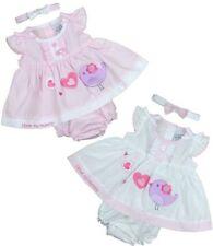 Vestidos de manga corta rosa para niñas de 0 a 24 meses