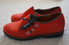 women's NIB Austrian EU 40 US 9 shoe red buck Sudtiroler Italy