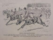 La chasse, Fox & chiens qui a été monté par ami antique punch Cartoon