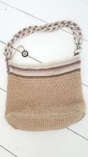 The Sak Knit Purse Bag Brown Beige Handbag Shoulder Bag BOHO Hippie