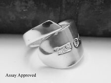 GEORGIAN  SOLID STERLING SILVER SPOON RING ASSAY APPROVED SIZES:  M N O P
