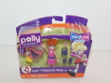Polly Pocket Lea + Pelectric Harp Dolls Mattel 2010 Brand New