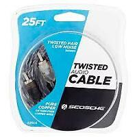 25ft Twisted Audio Cable
