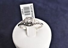 18CT W/GOLD HAND CRAFTED FILIGREE ENGAGEMENT RING TDW=0.15ct.H/I VS +VALUATION