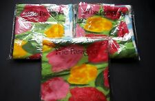 "Nwt 3-18"" decorative pillow cases Field Of Tulips fleece Paragon"