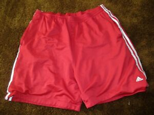 Adidas men's size 2XL red shorts
