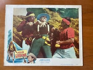 I KILLED GERONIMO 1950 Lobby Card Poster James Ellison Chief Thunder Cloud