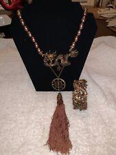 Heidi Daus Shimmering Dragon Necklace And Bangle Bracelet