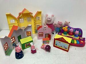 Peppa Pig Bundle Toy House Plushies Plastic Figures E46