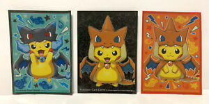 Mega Charizard X Y Poncho Pikachu 2016 Pokemon Center Japanese Card Sleeves