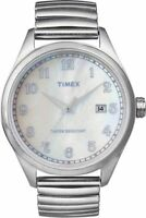NEW Mens Timex T2N408 Watch Stainless Steel Expansion Band$110 Indiglo Originals