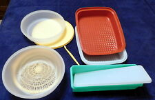 4 Sets + Tupperware Season Serve Celery Keeper Colander 2 qt Bowl w lids Citrus