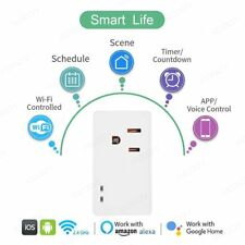 WiFi Smart Socket Home Mini Wireless Remote Control Smart Timer Switch Outlet