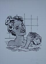 Limited POP ART edition silkscreen serigraph Girl signed Roy Lichtenstein w DOCS