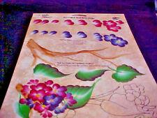 """Hortensia Donna Dewberry One Stroke Folk Art Laminado RTG nuevo fuera de impresión 8 1/2"""" X 11"""