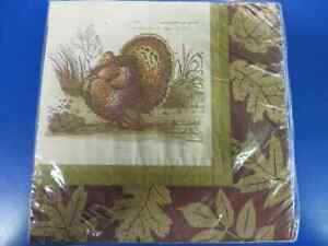 Thanksgiving Sophistication Turkey Autumn Leaves Party Paper Luncheon Napkins