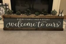 Rustic Wood Sign Every Family Has A Story Farmhouse Home Decor
