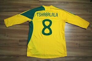 SOUTH AFRICA NATIONAL TEAM 2007-2008-2009 HOME FOOTBALL SHIRT JERSEY TSHABALALA