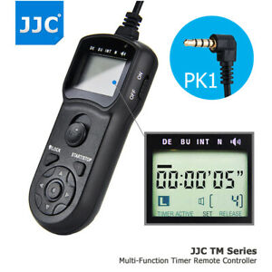JJC Wire Multi-Function LCD Timer Remote Control for Pentax KP K-70 KP as CS-310