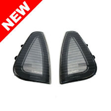 06-10 DODGE CHARGER FRONT TURN SIGNAL CORNER LIGHTS - BLACK FRAME / CLEAR LENS