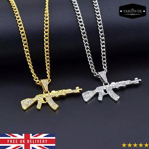 AK47 Gun Pendant Necklace Chain ✔ Hip Hop Designer Men Women Jewelry ✔