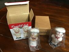 Campbells Soup Kids Salt And Pepper Shakers Chef Figurines Porcelain 1998 5""