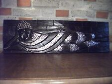 Buddha Liegend Relief Feng Shui Bild Portrait Wandschmuck Kunst Deko Bali