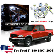 9x White Interior LED Lights Package Kit For 1997-2003 Ford F150 F-150 + Tool