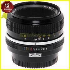 Nikon Nikkor 50mm f/2 obiettivo per fotocamere a pellicola innesto F a forcella