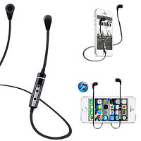 Sport Wireless Stereo Bluetooth Headset Headphone For iPhone 6 5C 5S HTC One M9