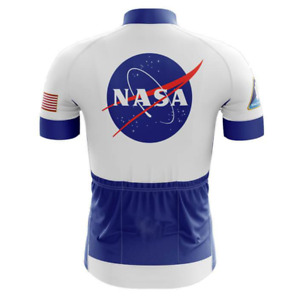 NASA Meatball Cycling Jersey Short Sleeve - White
