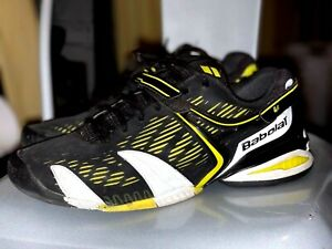 Babolat Men's Propules Black Yellow Tennis Shoes 11.5 11.5D