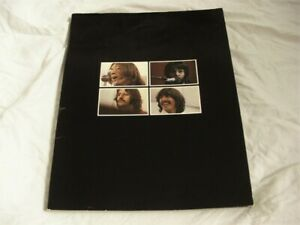 BEATLES GET BACK BOOK (LET IT BE BOX SET) FULLY INTACT - EARLIEST PASTED CREDITS