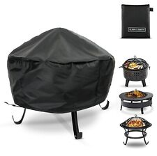 More details for waterproof water resistant windproof round fire pit protective cover 60cm black