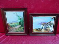 2 beau peintures___Maison au bord du lac et paysage___