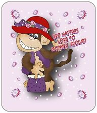 4X PURPLE T SHIRT FOR RED HAT LADIES OF SOCIETY HATTERS LOVE TO MONKEY AROUND