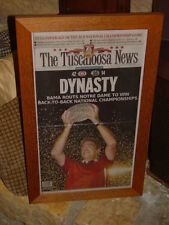 MAN CAVE ORIGINAL FRAMED NEWSPAPER UNIVERSITY OF ALABAMA 2012 BCS CHAMPIONS