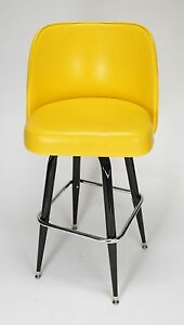 Bucket Seat Oval Bar Stool